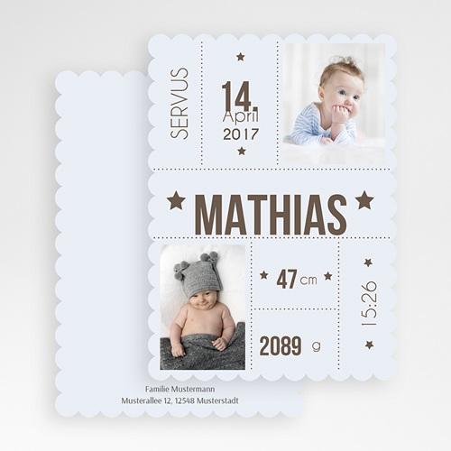 Geburtskarten für Jungen - Eckdaten 47978 test