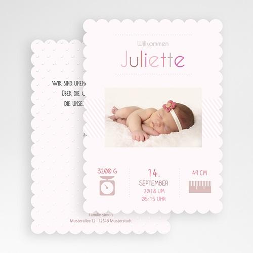 Geburtskarten für Mädchen - Dezent 47987 preview