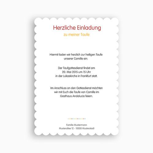 Einladungskarten Taufe Jungen  - Farbig 48013 test