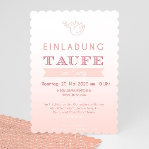 Elegant ... Einladungskarten Taufe Mädchen   Aquarell Taube 48021 Test ...
