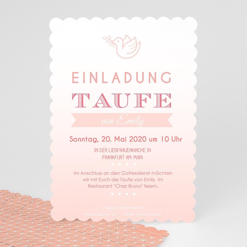 superior Einladungskarten Taufe Madchen #3: Einladungskarten Taufe Mädchen - Rosatöne Taufe - 0
