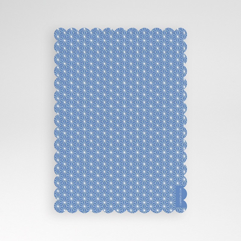 Einladungskarten Taufe für Jungen Aquarell Blau pas cher