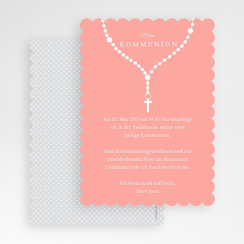 Einladungskarten Kommunion Mädchen - Kette 48041 thumb