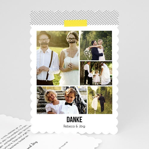 Alle Dankeskarten Hochzeit - Gelbton