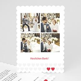 Alle Dankeskarten Hochzeit Zwei Herzen