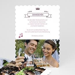 Danksagungskarten Hochzeit Musiknoten
