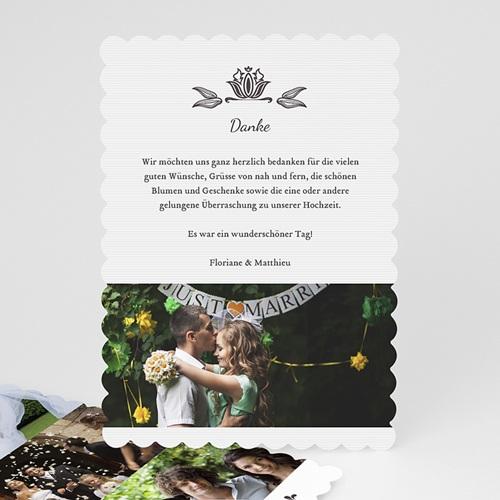 Alle Dankeskarten Hochzeit - Vintage Ornament 48075