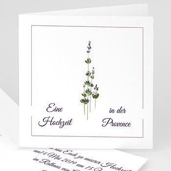 Einladungskarten Naturhochzeit  - Lavendel - 1
