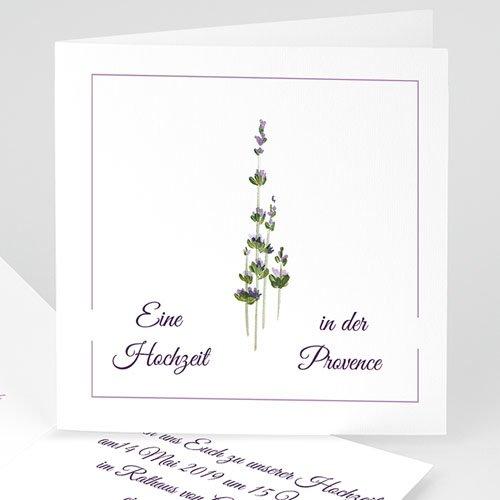 Einladungskarten Naturhochzeit  - Provence 4808 thumb