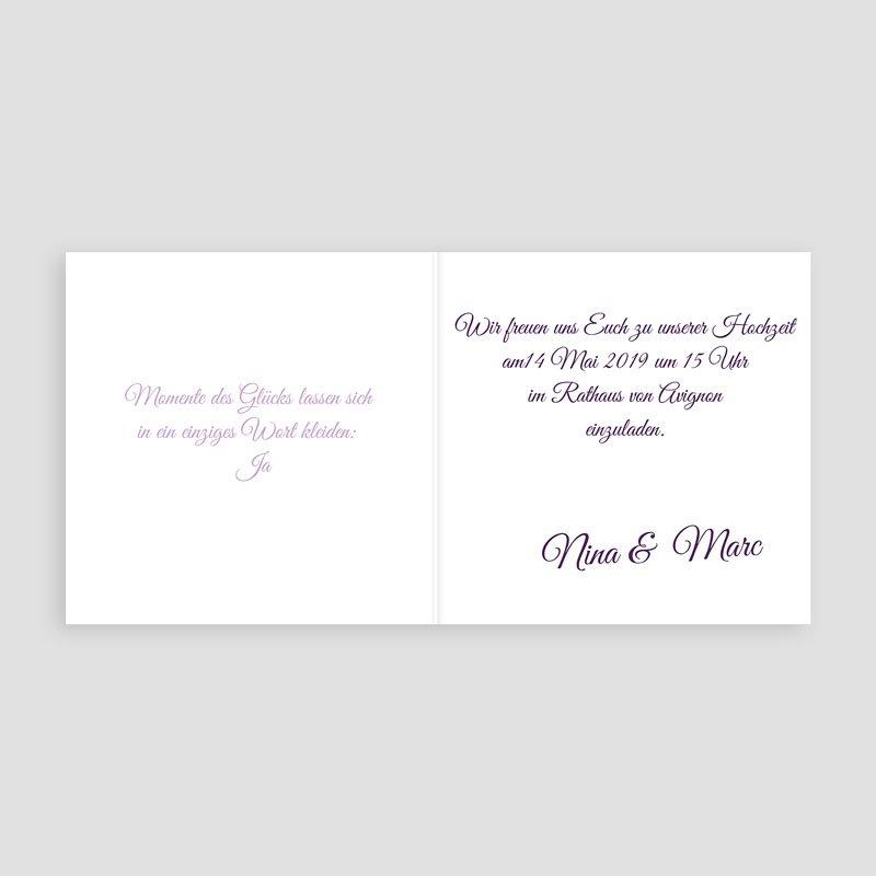 Einladungskarten Naturhochzeit  - Provence 4809 thumb