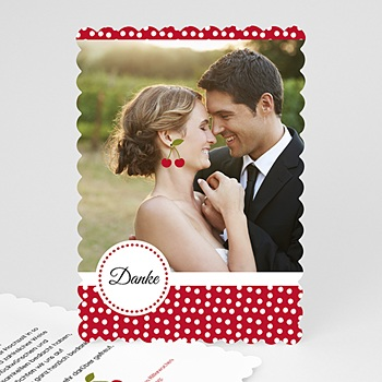 Alle Dankeskarten Hochzeit - Rote Kirschen - 0