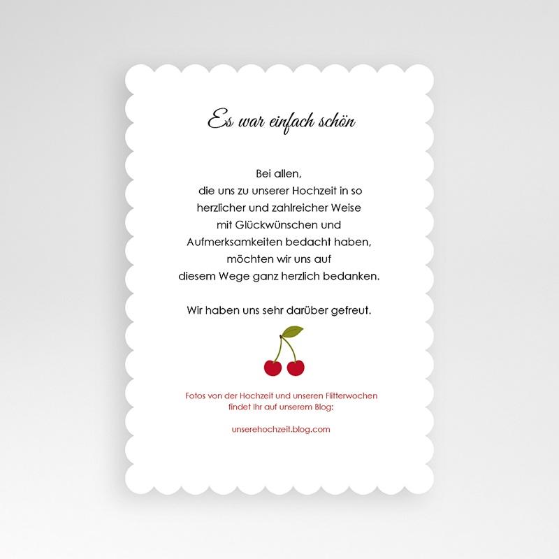 Alle Dankeskarten Hochzeit Rote Kirschen pas cher