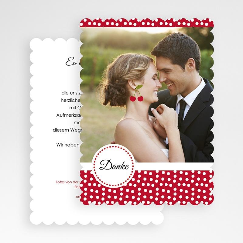 Alle Dankeskarten Hochzeit Rote Kirschen gratuit