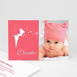 Dankeskarten Geburt Mädchen - Kleine Fee - 0