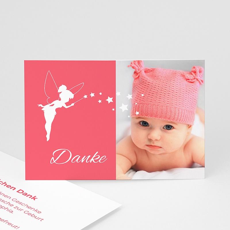 Dankeskarten Geburt für Mädchen Kleine Fee