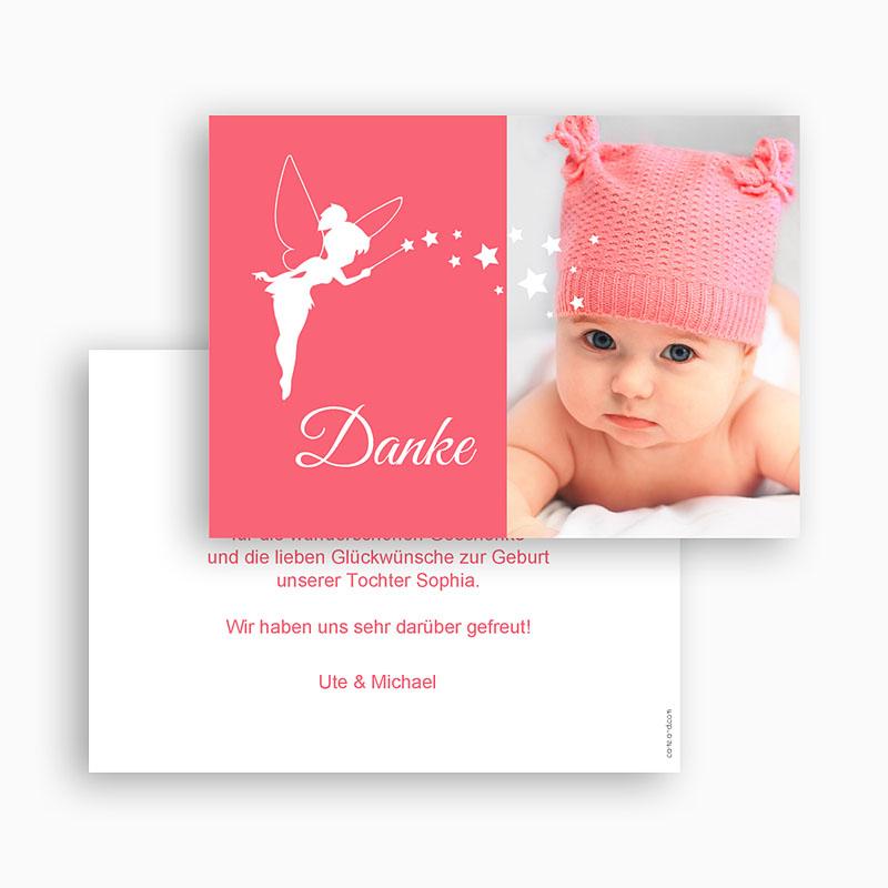 Dankeskarten Geburt Mädchen - Kleine Fee 48144 thumb