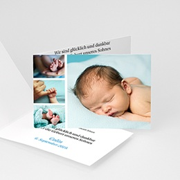 Karten Geburt Miniaturfotos