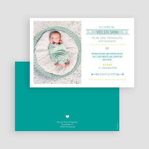 Dankeskarten Geburt Jungen - Portrait 48162 test