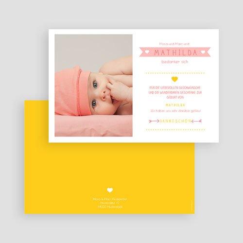 Dankeskarten Geburt Mädchen - Farbmix 48171 preview