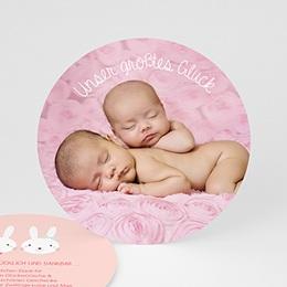 Dankeskarten Geburt - Hasenmädchen - 0