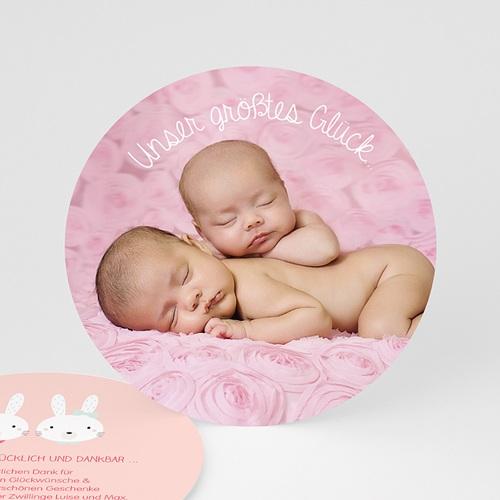Dankeskarten Geburt - Hasenmädchen 48254 test