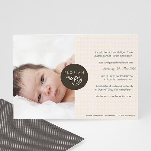 Einladungskarten Taufe Jungen  - Täubchen 48260