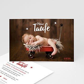 Einladungskarten Taufe Jungen  - Blickfang - 0