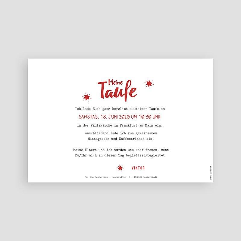 Einladungskarten Taufe Jungen  - Blickfang 48279 thumb