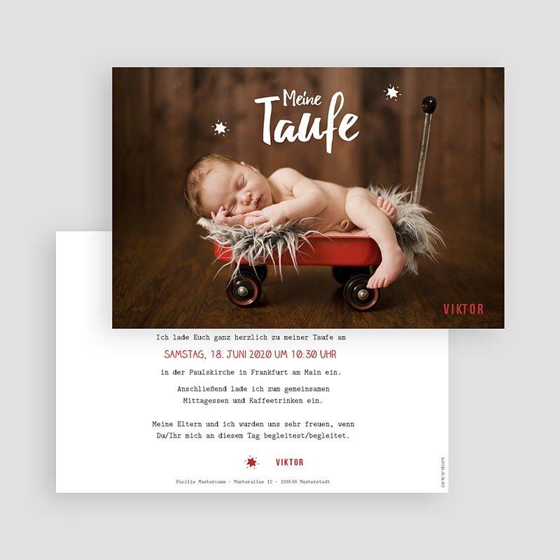 Einladungskarten Taufe Jungen  - Blickfang 48280 thumb