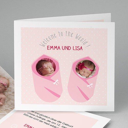 Babykarten für Zwillinge gestalten - Geborgenheit 48299
