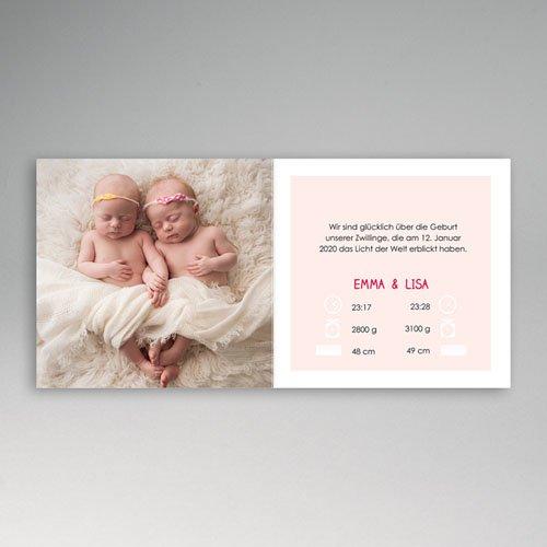 Babykarten für Zwillinge gestalten - Geborgenheit 48300 preview
