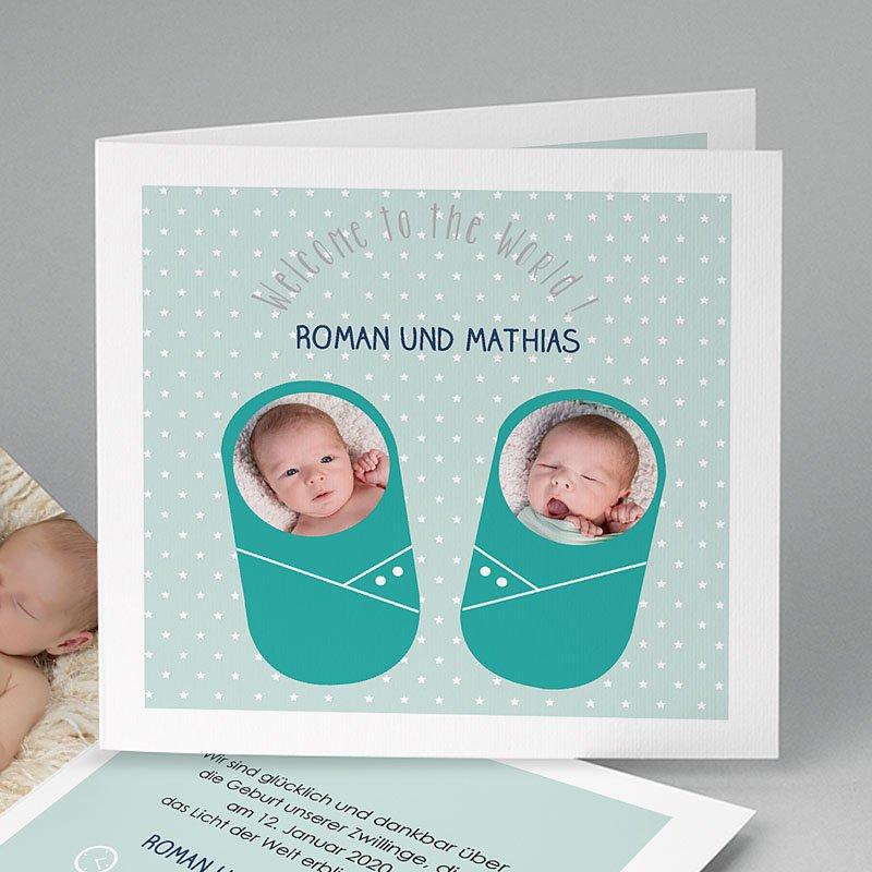 Geburtskarten für Zwillinge Wohlig