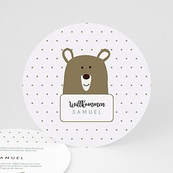 Geburtskarten für Jungen - Kleiner Bär - 0