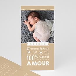 Karten Geburt 100% Liebe