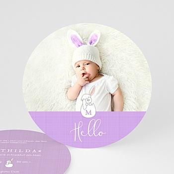 Geburtskarten für Mädchen - Hello Baby - 0