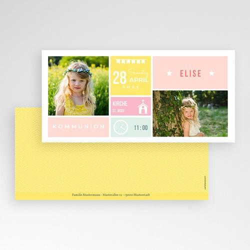 Einladungskarten Kommunion Mädchen - Pastell 48363 thumb