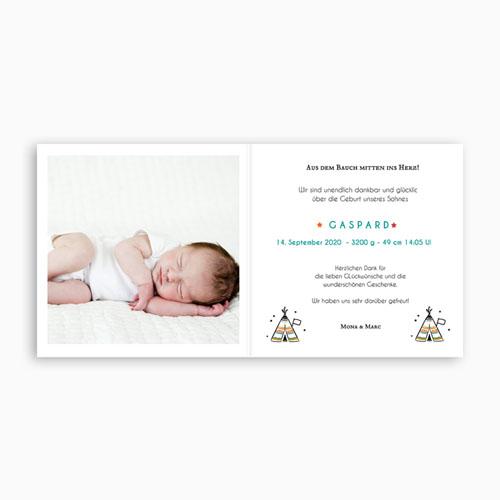 Geburtskarten für Jungen Little Tipi  pas cher