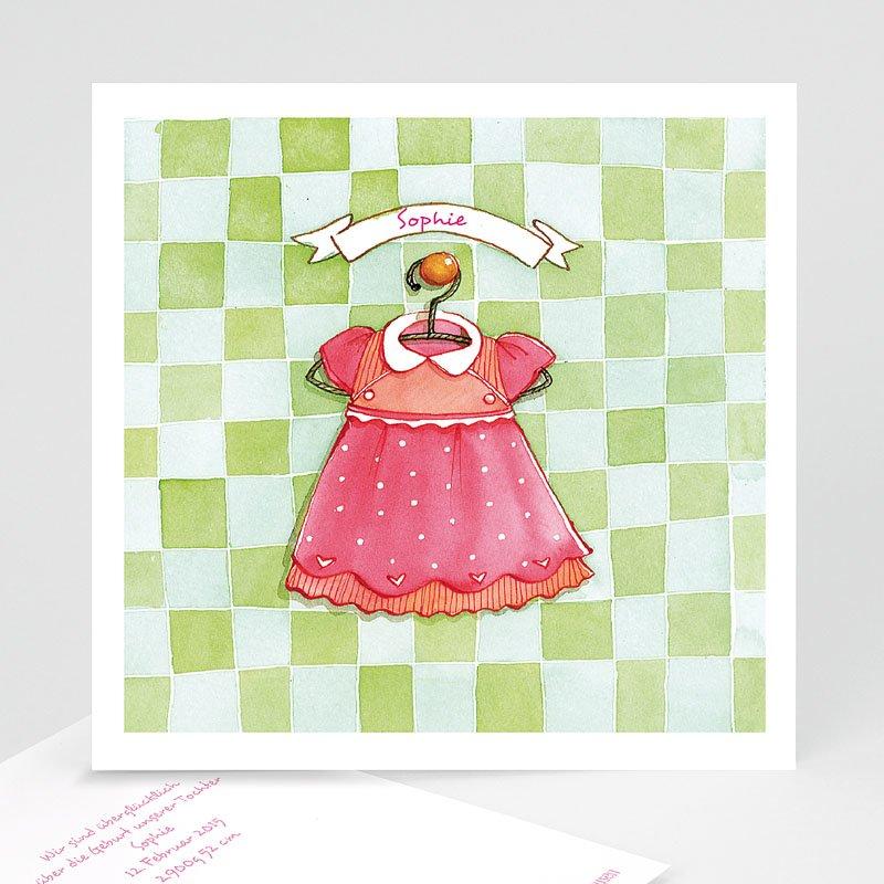 Geburtskarten für Mädchen Kleidchen