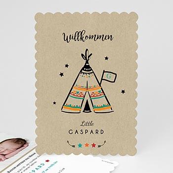 Geburtskarten kreativ - Indianerzelt - 0