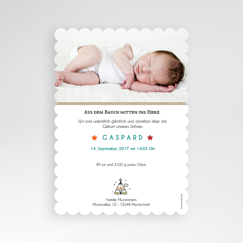 Geburtskarten kreativ Zelt pas cher