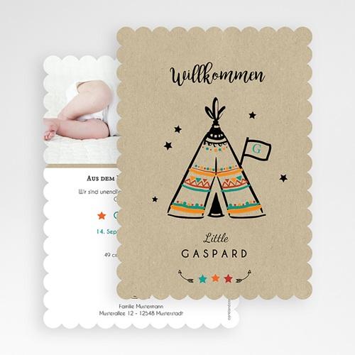 Geburtskarten kreativ - Zelt 48483 test