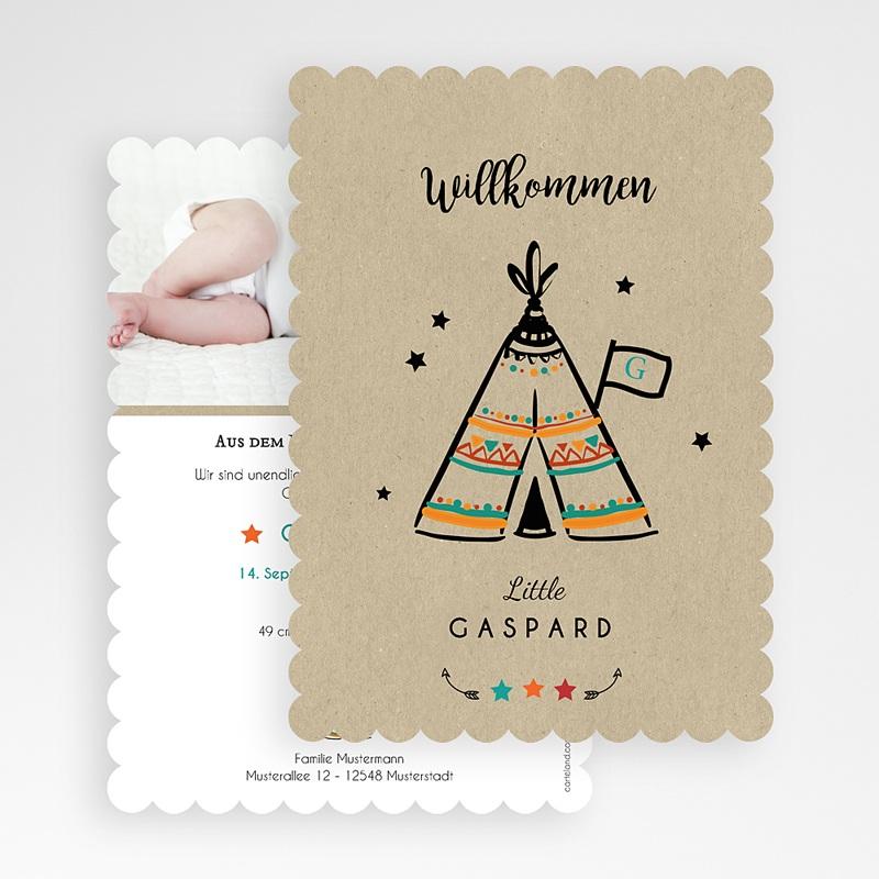 Geburtskarten kreativ Zelt gratuit