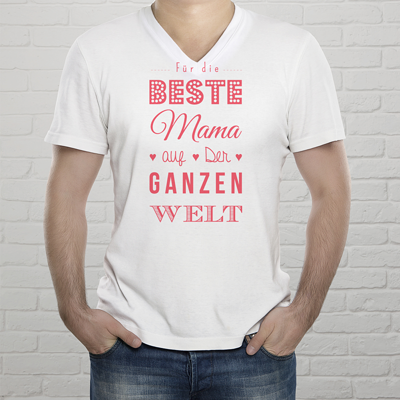 Personalisiertes T-Shirt Die beste Mama