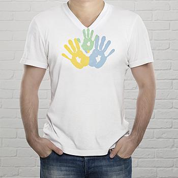 Tee-Shirt Mann - Handabdrücke - 0