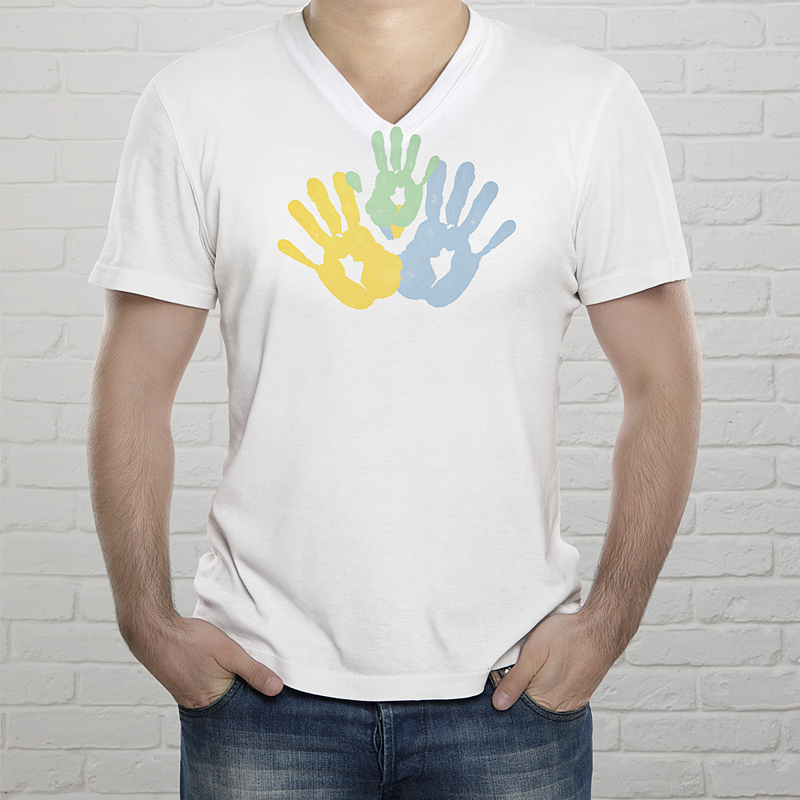 Personalisiertes T-Shirt Handabdrücke