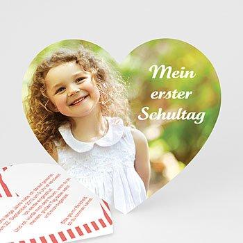 Einladungskarten Einschulung - Herz - 0