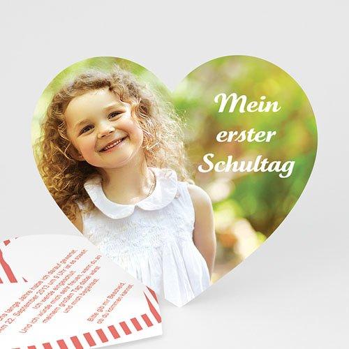 Einladungskarten Einschulung - Herz 48567 test