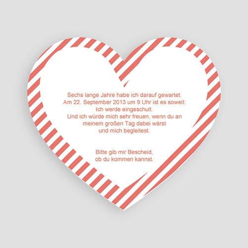 Einladungskarten Einschulung - Herz 48568 test