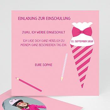 Einladungskarten Einschulung - Schultüte - 0