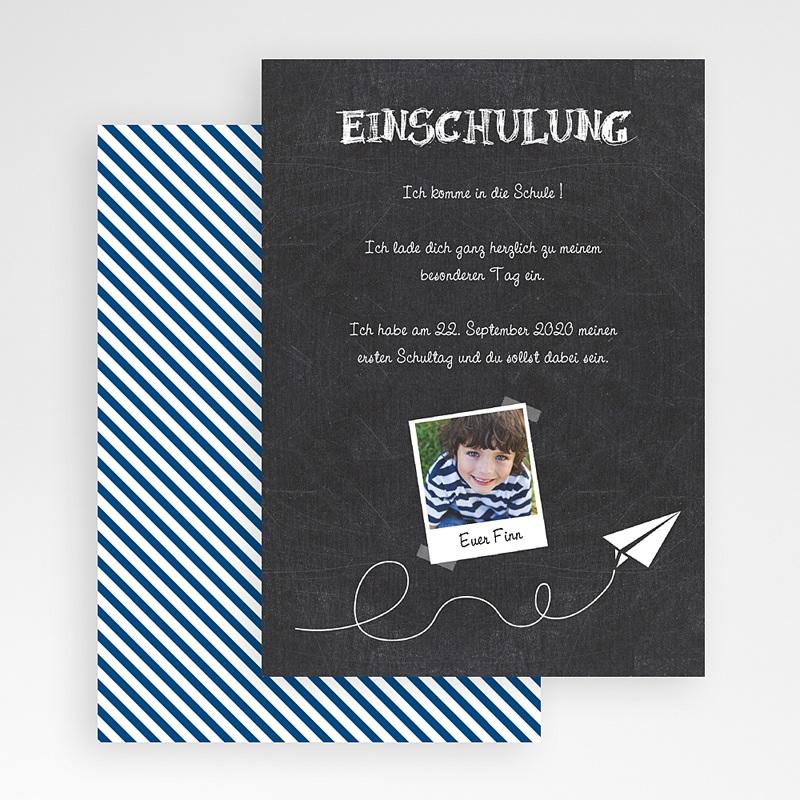 Einschulung Einladungskarte Individuelle Schiefertafel Foto Klappkarte Faltkarte